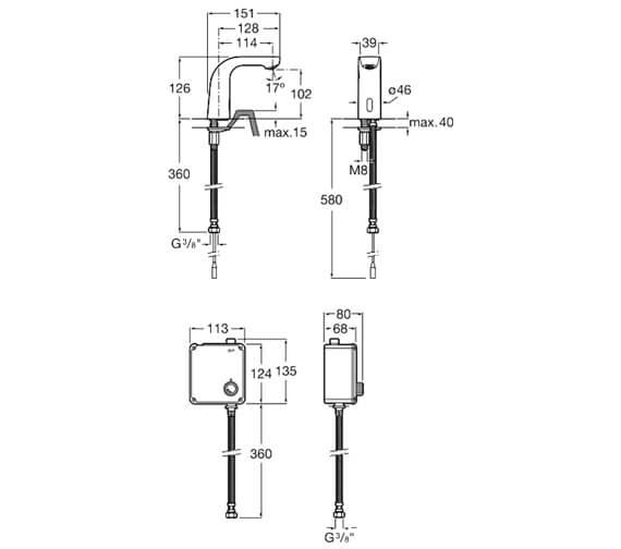 Technical drawing QS-V93009 / 5A5609C00