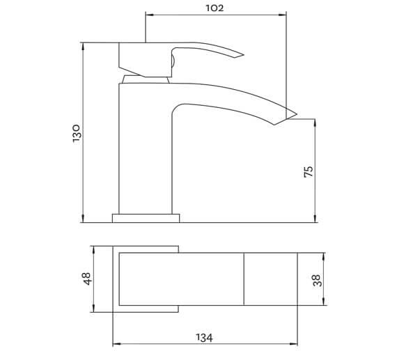 Technical drawing QS-V95954 / SWO2313