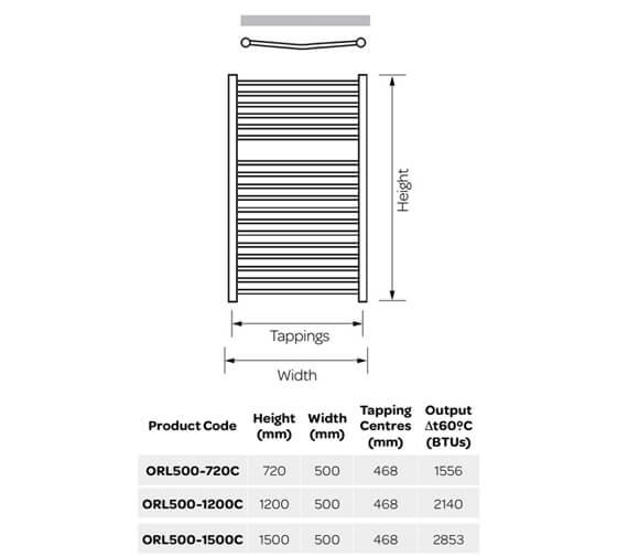 Technical drawing QS-V99254 / ORL500-720C