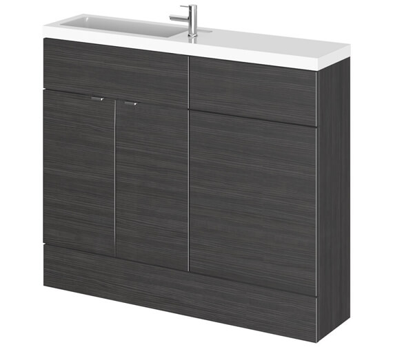 Alternate image of Hudson Reed Fusion 1000mm Compact Furniture Pack - Vanity And WC Unit With Basin