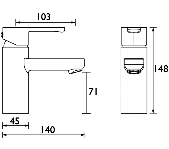 Technical drawing QS-V54007 / NR BASNW C