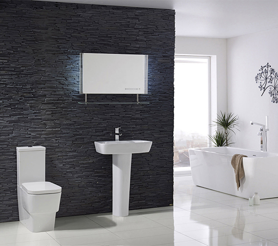 Aqua Ceramica Cubix 600mm With Full Pedestal Basin