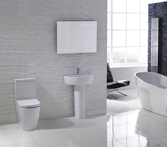 Aqua Edition Emme Flush To Wall Toilet With Soft Close Seat