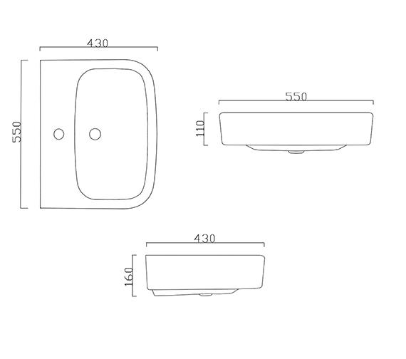 Technical drawing QS-V42686 / BIQR2055BAS1