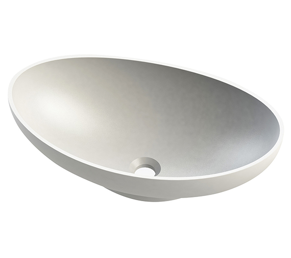 Aqua Natural Queen Oval Stone Solid Surface Basin