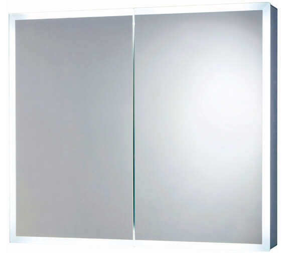 Harrison Bathrooms Mia 800mm x 700mm LED Mirror Cabinet With Demister Pad And Shaver Socket