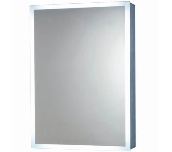 Harrison Bathrooms Mia 500mm x 600mm LED Mirror Cabinet With Demister Pad And Shaver Socket