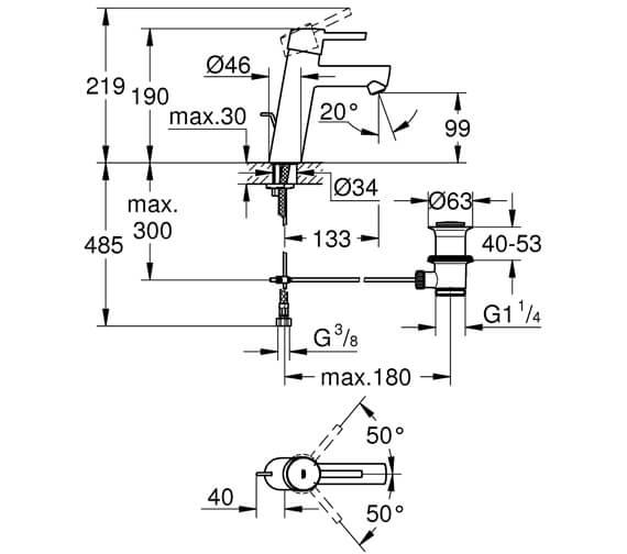 Technical drawing QS-V81733 / 23451001