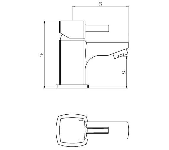 Technical drawing QS-V100826 / BIQCX10