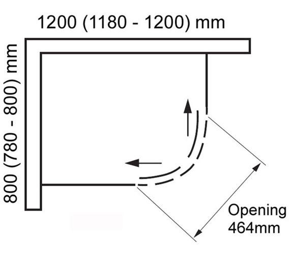 Additional image of Aquaglass Drift 8mm Offset Quadrant Enclosure