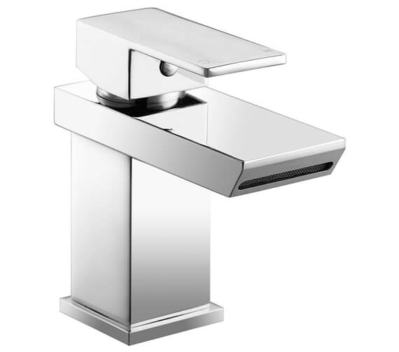 AquaFlow Misto Waterfall Basin Mixer Tap With Click Clack Waste