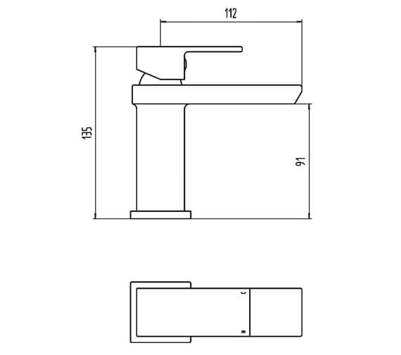 Technical drawing QS-V100842 / BIQSK10
