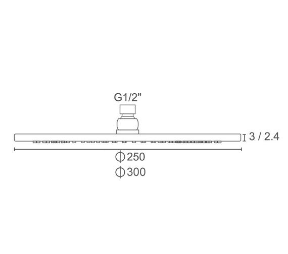 Technical drawing QS-V104314 / BIQSB76
