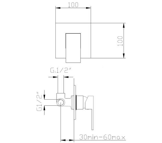 Technical drawing QS-V105003 / FMART9740