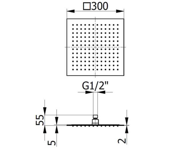 Technical drawing QS-V104303 / BIQSB75