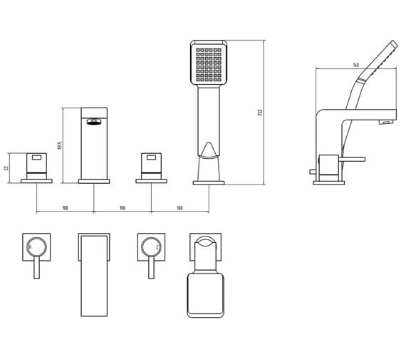 Additional image of AquaFlow Pano Bath Shower Mixer Tap