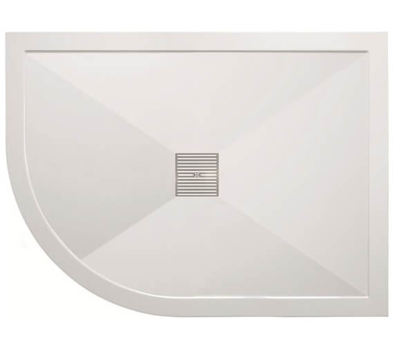 Crosswater Simpsons 25mm Stone Resin Offset Quadrant Shower Tray