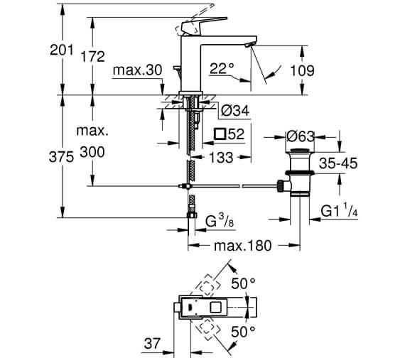 Technical drawing QS-V87084 / 23446000