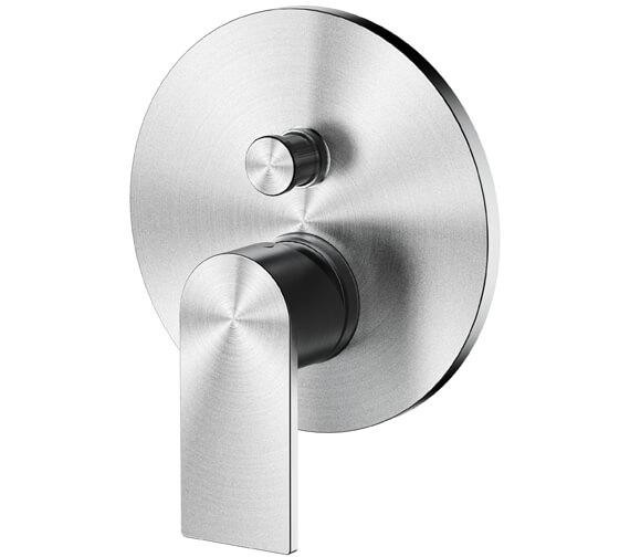 Aqua Edition Strand Brushed Steel Concealed Shower Valve