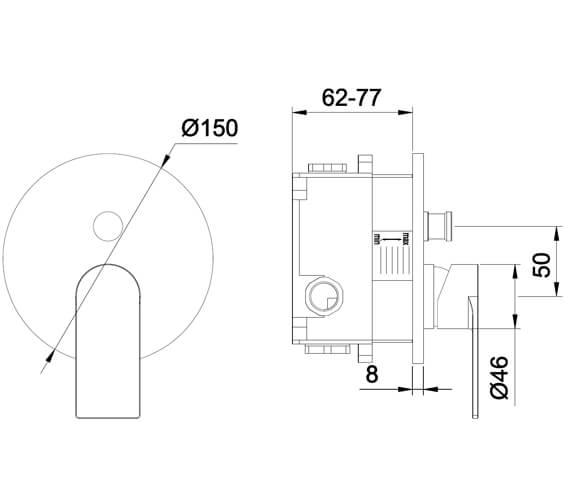 Technical drawing QS-V105007 / S909-2100-1