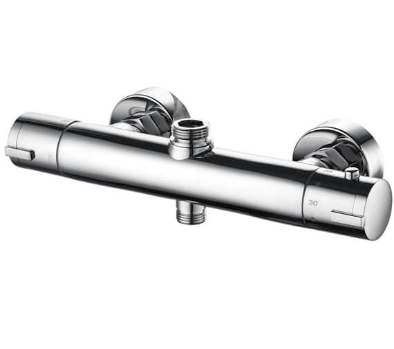 Saneux Cos Exposed Thermostatic 30mm Round Bar Shower Valve