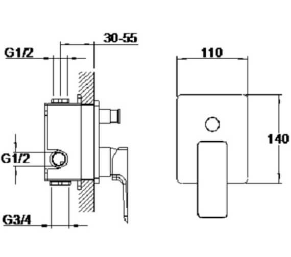 Technical drawing QS-V105010 / S858-2100
