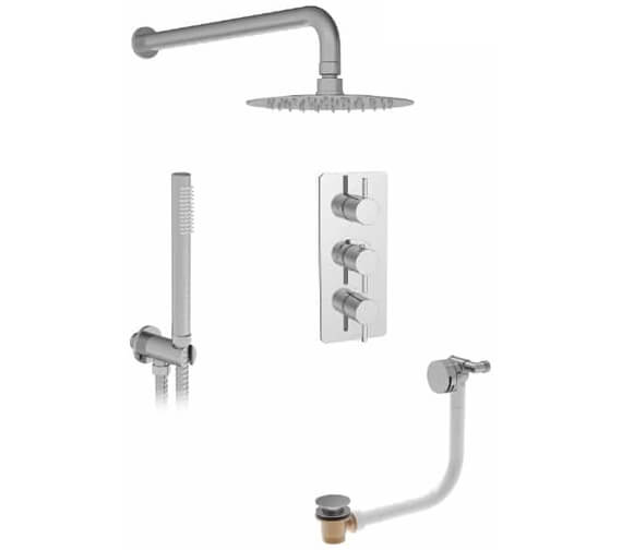 Saneux Cos 3 Outlet Thermostatic Valve With Shower Kit