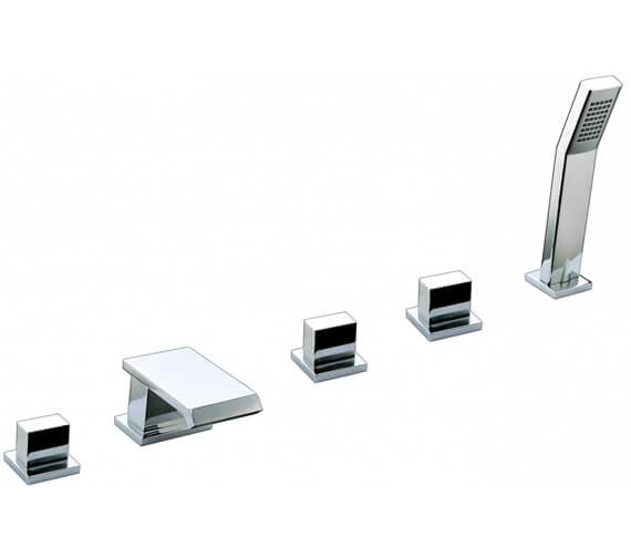 AquaFlow Estrada 5 Taphole Waterfall Bath Shower Mixer Tap