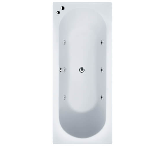 Aqua Duo Round Straight Double Ended Whirlpool Bathtub