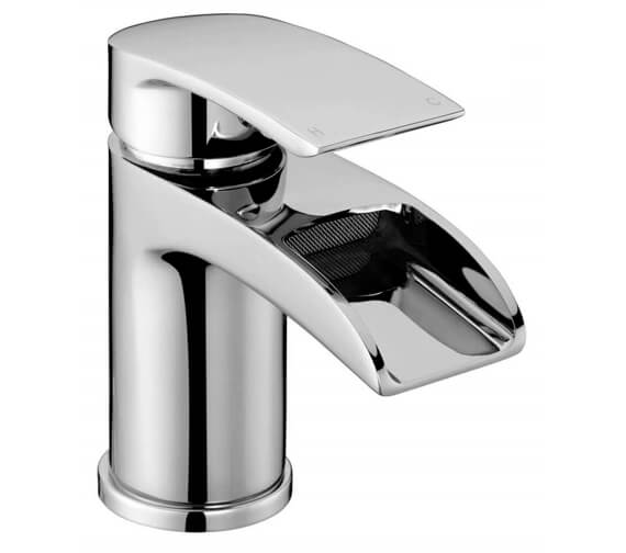 AquaFlow Flo Waterfall Basin Mixer Tap With Click Clack Waste