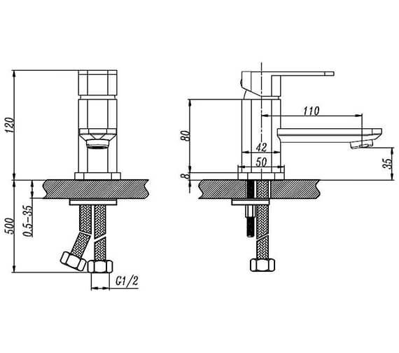 Technical drawing QS-V96430 / RKR71011-2