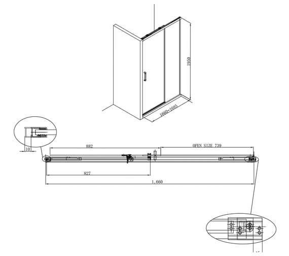 Technical drawing QS-V17583 / DSLSC1100