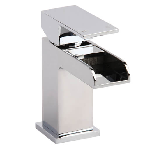 AquaFlow Stream Waterfall Basin Mixer Tap With Click Clack Waste