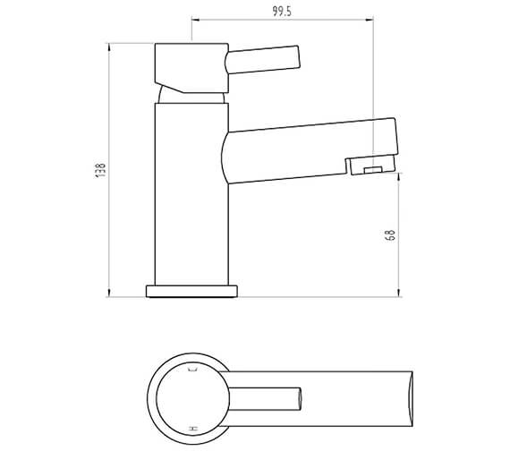 Technical drawing QS-V96437 / BIQPE03
