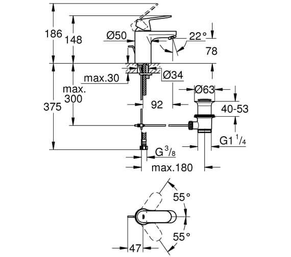 Technical drawing QS-V26829 / 32825000