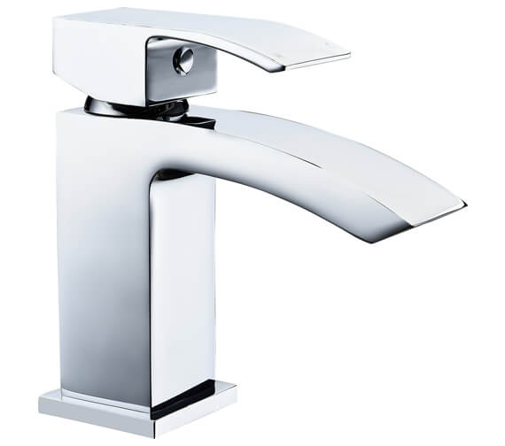 AquaFlow Pure Waterfall Basin Mixer Tap With Click Clack Waste