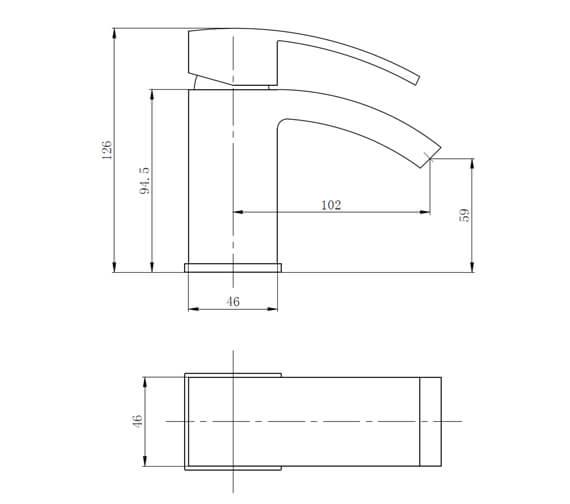 Technical drawing QS-V89569 / BIQPU10