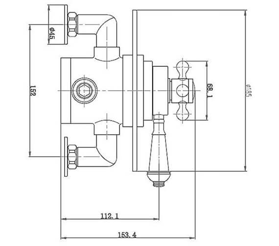 Technical drawing QS-V96442 / BIQEDWCSV