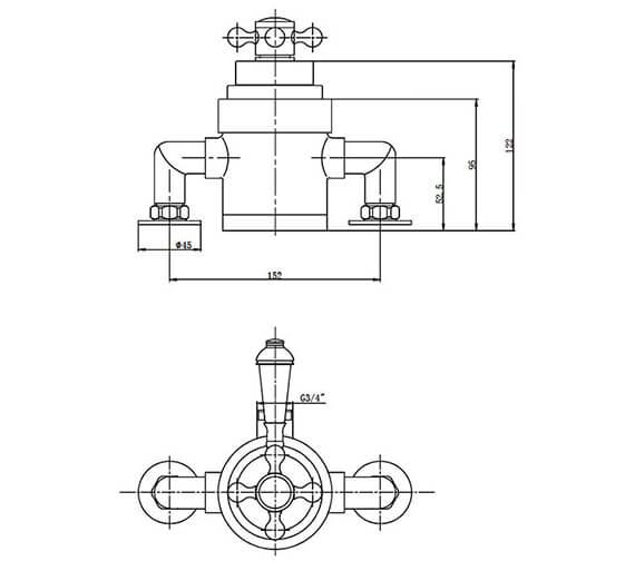 Additional image of Holborn Edwardian Round Thermostatic Shower Valve