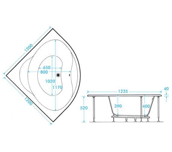 Technical drawing QS-V101369 / TRLGW12