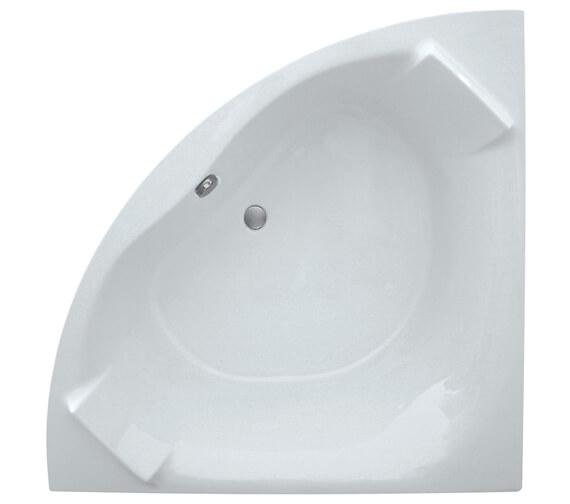 Aqua Luxe 1400mm Corner Bathtub With Built-In Headrest
