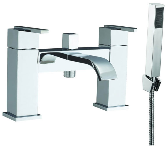 AquaFlow Blok Chrome Bath Shower Mixer Tap