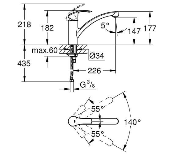 Technical drawing QS-V81804 / 33281002