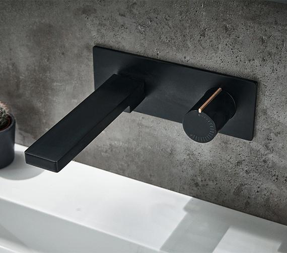 Aqua Edition Velar Wall-Mounted Black Basin Mixer Tap