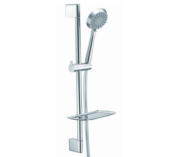 Aqua Sloane Round Slide Rail Shower Kit With Hand Shower