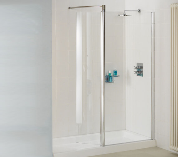 Lakes Classic Silver Walk-In Front Panel 1000 x 1850mm