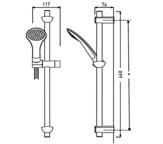 Technical drawing QS-V79166 / EVC KIT02 C