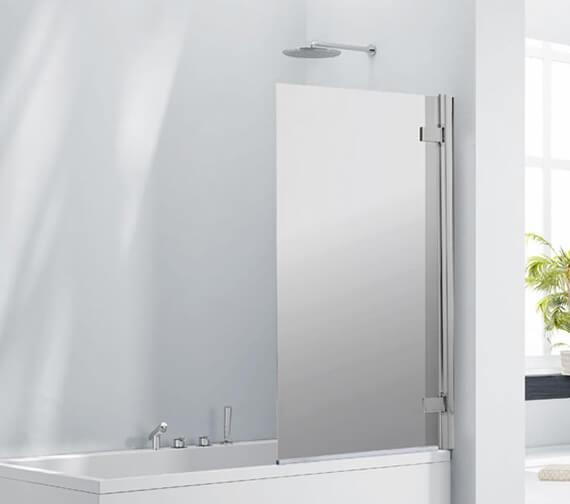 Aquaglass 8mm Frameless Mirrored Bath Screen