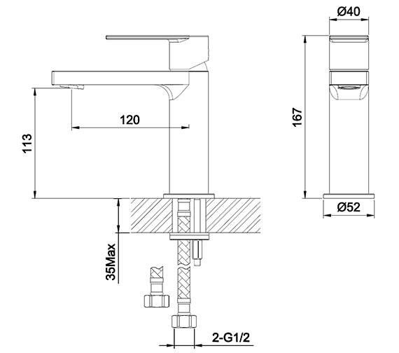 Technical drawing QS-V42638 / S909-0100