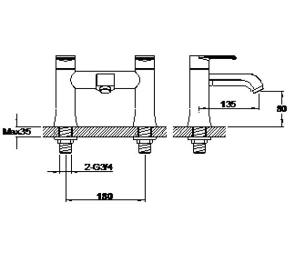 Additional image of Aqua Edition Basque Bath Filler Tap